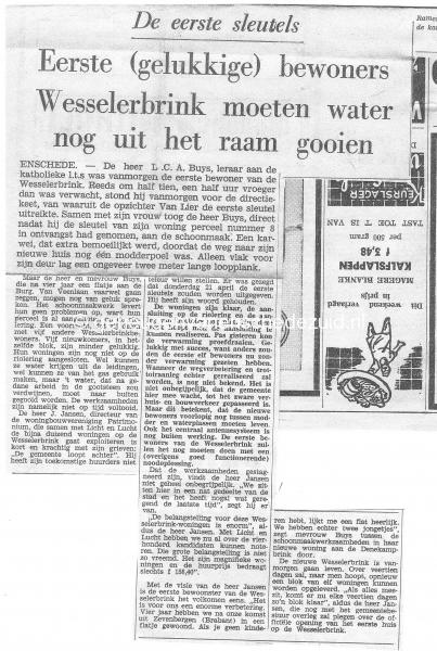 1966 Eerste oplevering Wesselerbrink bron Dhr en Mw Buijs.jpg
