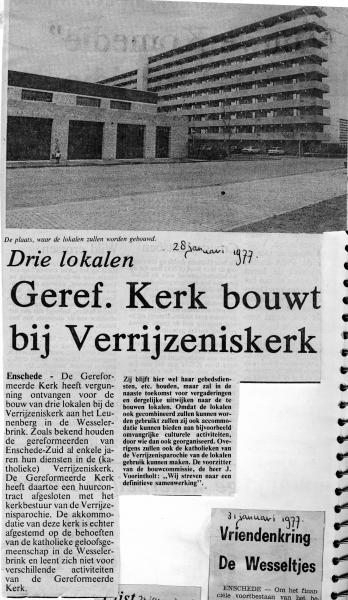 1977-01-28 bouwplannen drie lokalen bij Verrijzeniskerk.jpg