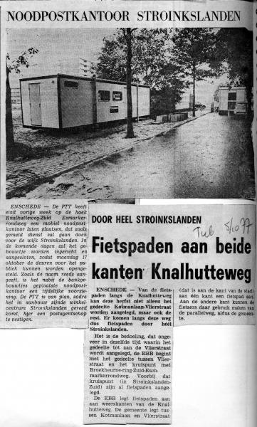 1977-10-05 Noodpostkantoor Stroinkslanden en fietspaden Knalhutteweg.jpg