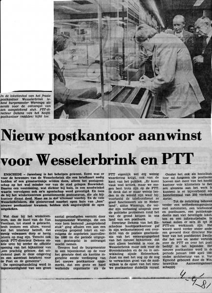 1981-04-04 Postkantoor Wesselerbrink.jpg