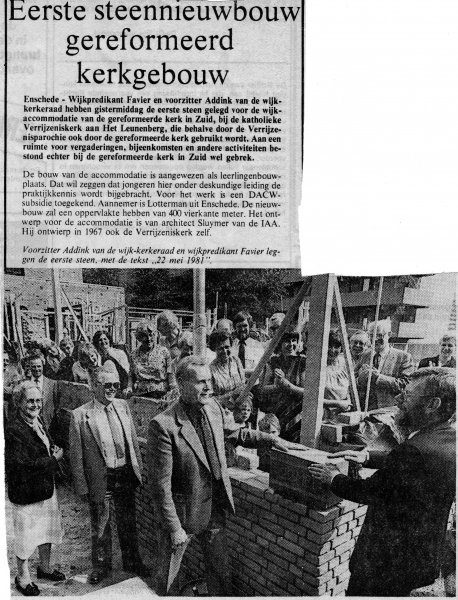 1981-05-22 1e steen Verrijzeniskerk.jpg