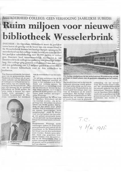 1988-05-04 Plannen nieuwe bibliotheek Zuid.jpg