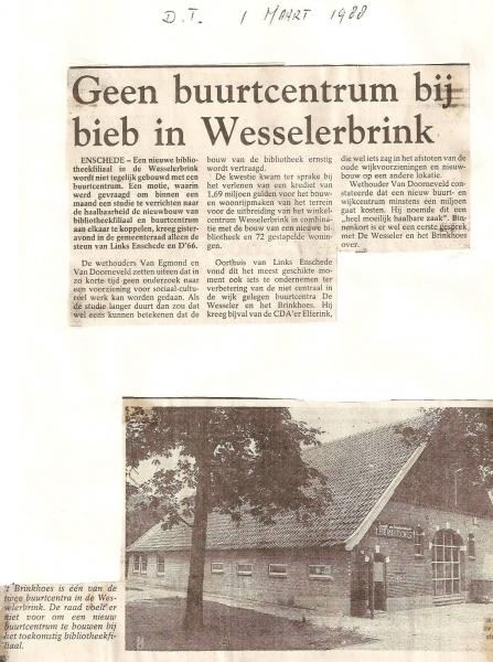1988 Tubantia Discussies over plek wijkcentrum wesselerbrink.jpg