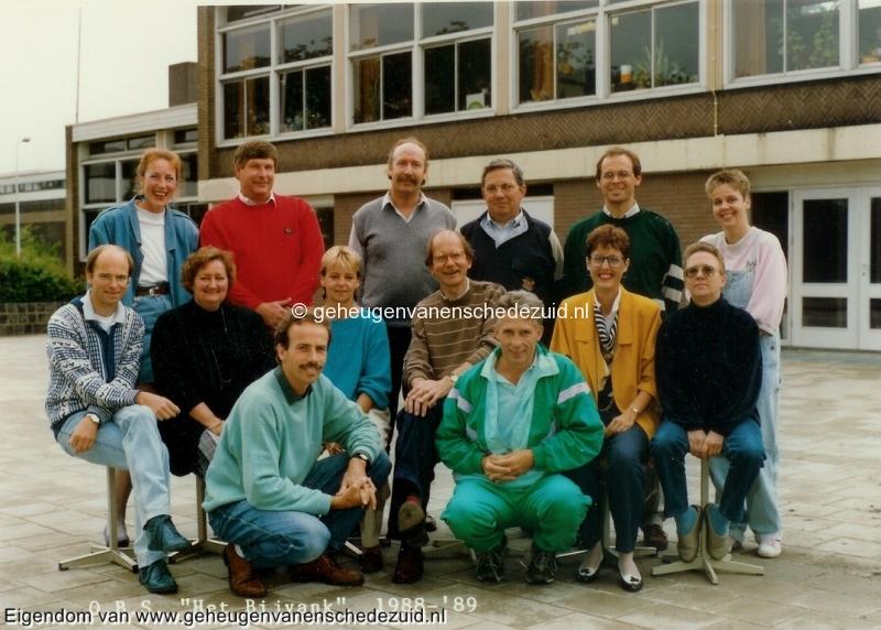 1988-1989, OBS het Bijvank, lerarenteam, bron Wim Geverink.jpg