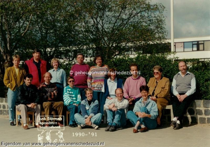 1990-1991, OBS het Bijvank, lerarenteam, bron Wim Geverink.jpg