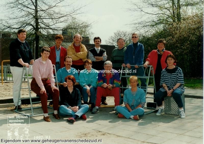 1992-1993, OBS het Bijvank, lerarenteam, bron Wim Geverink.jpg